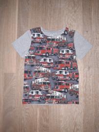 3406 - Brandweerwagens shirt (ook lange mouw)