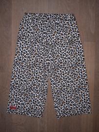 16002 - Wijdvallende broek luipaard print