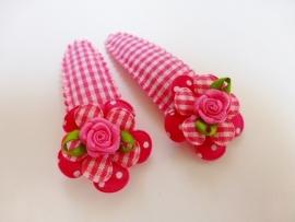 7076 - Setje haarspeldjes roze