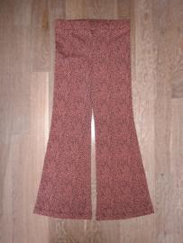 160005 - Flared broek met panther print roest kleur