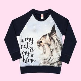 3440 - Sweater met poes  Vinrose