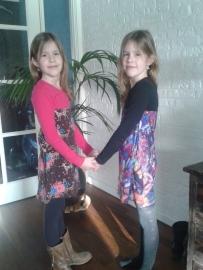 Twee blije meiden!