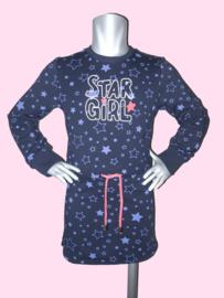 4390 - Vinrose donkerblauw  jurkje  Star Girl
