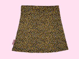 2321 - Okergeel luipaard print rokje