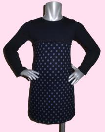 4201 - Jurkje zwart met grijze stippen