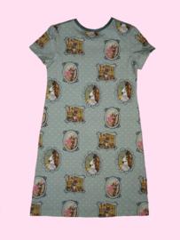 4444 - Kat met ijsje in Venetië  jurkje