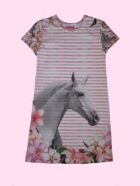 4458 - Paarden jurkje (ook lange mouwen)