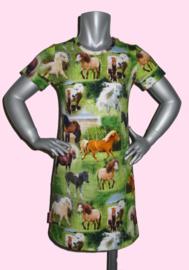4186 - Paarden jurkje ook met lange mouw