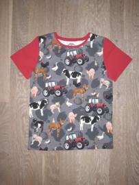 3404 - Boerderij dieren shirt (ook lange mouw)