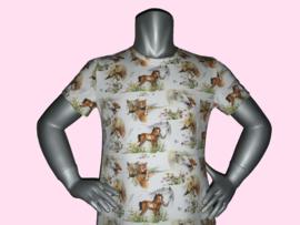 4439 - Wit paarden jurkje met veulentje