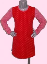 4139 - Rood - roze sterren jurkje