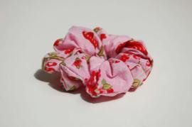 12009 - Vlinder roze scrunchie