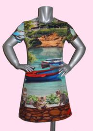4223 - Portofino poezen jurkje ook met lange mouwen