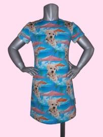 4408 -  Hondjes jurk maat 86-92, 98-104, 110-116, 122-128