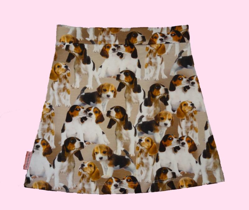 2237 - Tricot  meisjes hondjes rokje (direct leverbaar)