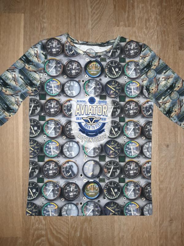 3422 - Aviator longsleeve of shirt (direct leverbaar)