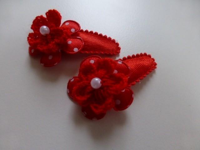 7053 - Haarknipje rood 3 cm