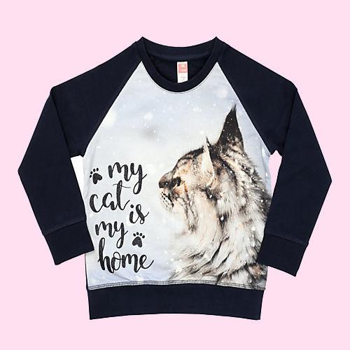 3440 - Sweater met poes  Vinrose maat 86-92, 98-104