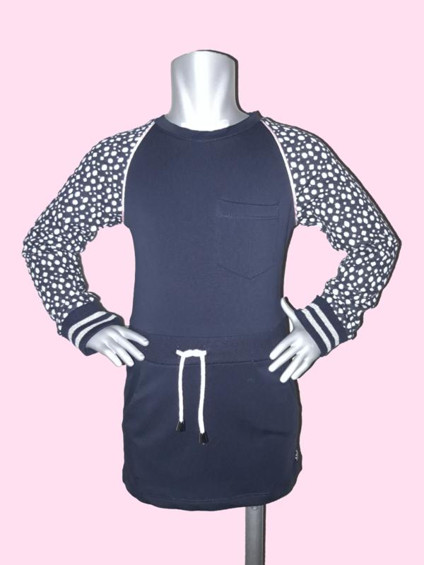 4391 - Vinrose donkerblauw jurkje maat 86-92, 98-104, 110-116, 146-152