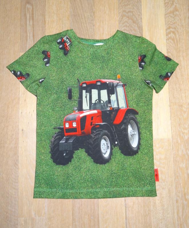 3393 - Tractor shirt of longsleeve 86-92 en 122-128