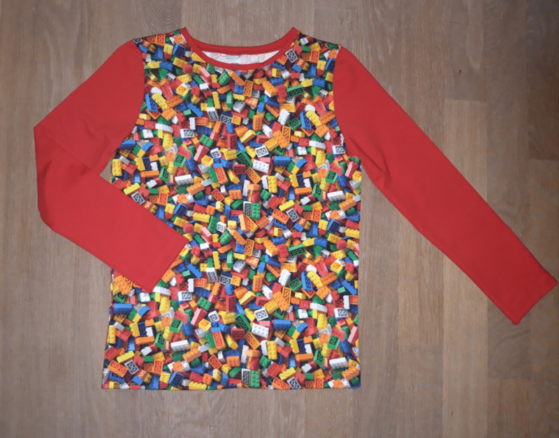 3398 - Lego shirt of longsleeve rood