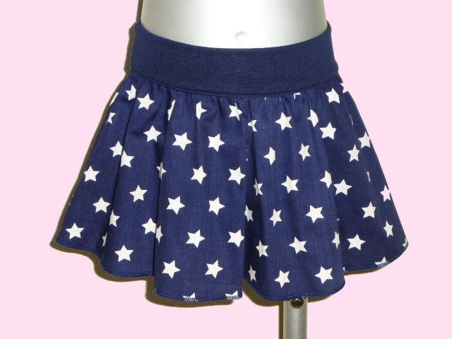 2209 - Donkerblauw sterren rokje