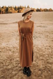 Shoulder dress Brown