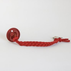 Cotton Braided Pacifier Clip – Berry