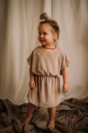 *Crop Dress Terry Sand