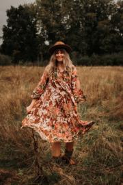 Flower dress brown