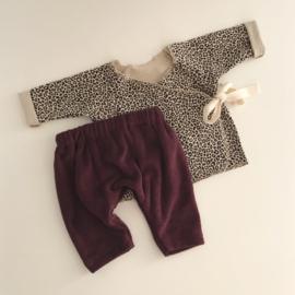 Baby Set Purple Leopard