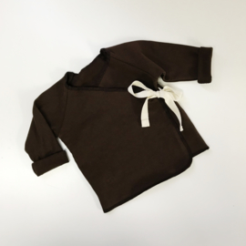 Wrap Top Chocolate Brown