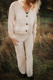 Vest & broek  crème