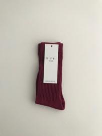 Socks Burgundy