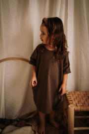 Pocket Dress Brown Melange