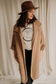 OVERSIZED VEST TAUPE