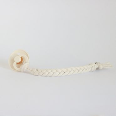 Cotton Braided Pacifier Clip – Coconut