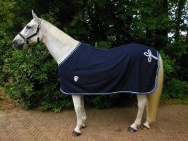 luxe wollen deken blauw