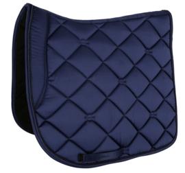 dekje met glitterrand (wit-blauw-zwart)