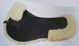 zadel pad echt lamsvel (in zwart of wit)