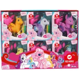 set van 6 paardjes