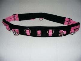 longeersingel voor mini-shet en shet (zwart/roze)