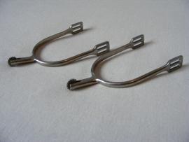 sporen met klein kartel wieltje 30mm