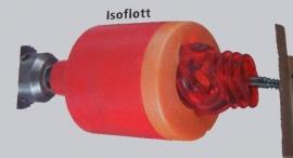 isoflott (vast schroeven van ring isolatoren met de boormachine)