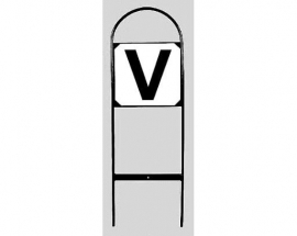 bordjes voor Z-dressuur (4 stuks)