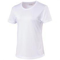 Dames shirt ronde hals met witte letters