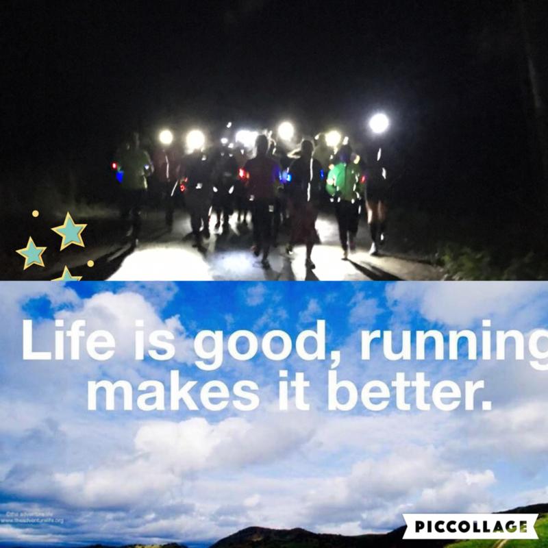 Mindful powerwalk night trail 5 km zonder hoofdlampje