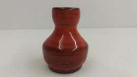 Setje van 2 vaasjes in oranje rood / Set of 2 little vases orange red