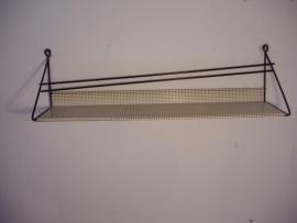 Kapstok plankje in geperforeerd wit 65 cm.