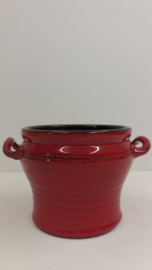 Speck Rood met oortjes 10.5 x 15 cm. / Red with little handles 4.1 x 5.9 inch.